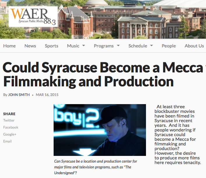 WAER report on film production movement